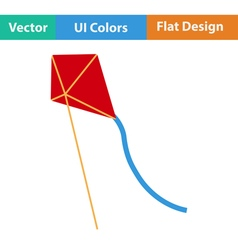 Flat design icon of kite vector