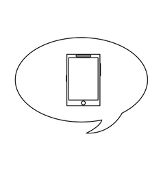 Chat bubble and cellphone vector