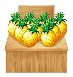 A pineapple fruitstand with an empty board vector image vector image
