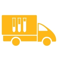 Analysis delivery icon vector