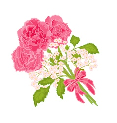 Budget-of-three-roses vector