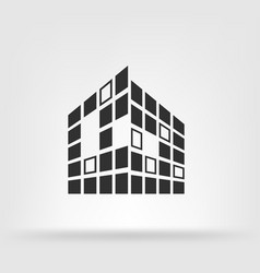 buildings icon for company vector image