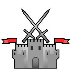 Castle medieval design vector