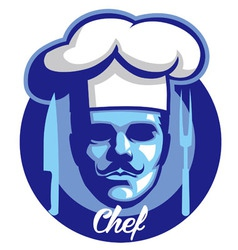 chef face mascot vector image vector image