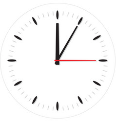 classic round wall clock vector image vector image