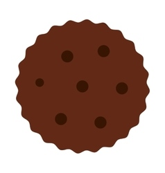 Cookies chocolate sweet dessert vector