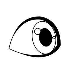 Cute cartoon eye child eyelashes icon vector