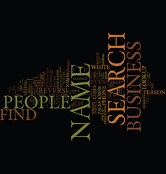 find business name by people search text vector image