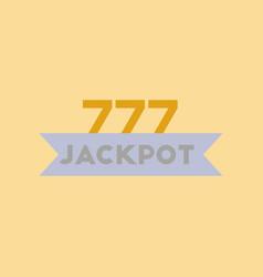 Flat icon on stylish background jackpot lucky vector