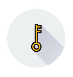 key icon on round background vector image vector image