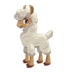 Little cute lama vector