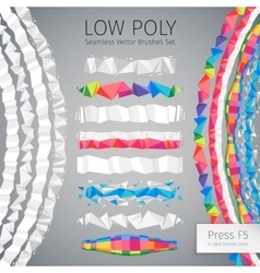 Low Poly Seamless Brushes vector image vector image