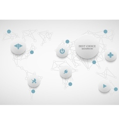 modenr social network infographic vector image vector image