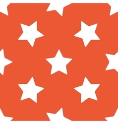 Orange star pattern vector image vector image