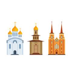 Orthodox christian church christian chapel vector