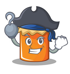 Pirate jam character cartoon style vector
