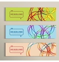 Set of color line banners for abstract design vector image vector image