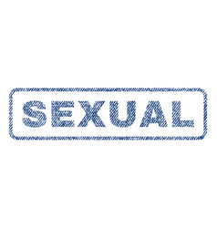 Sexual textile stamp vector