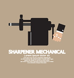 Sharpener Mechanical With Pencil Inside vector image vector image