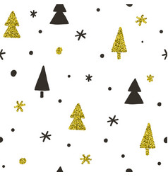 stylish christmas pines seamless pattern vector image vector image