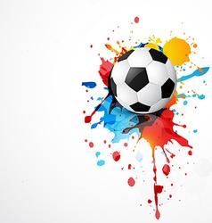 stylish football vector image vector image