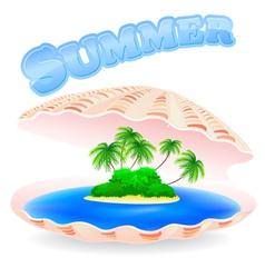 Tropical Island Shell vector image