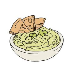 Vintage style of hummus with vector