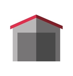 Warehouse building logistic icon vector