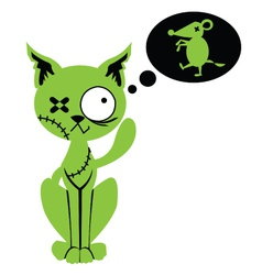 Zombie cat vector image