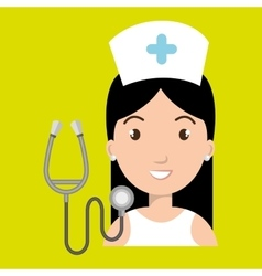 Nurse medical stethoscope woman vector