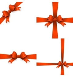 Gift orange ribbon and bow eps 10 vector