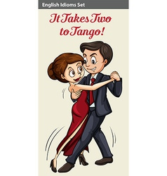 English idiom of two people dancing vector