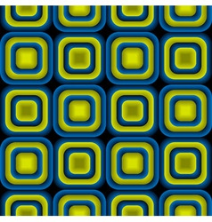 Bulge squares optical seamless pattern vector