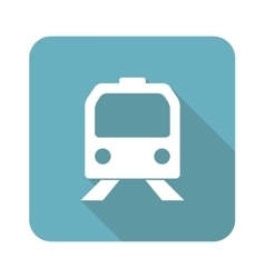 Square train icon vector