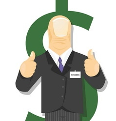 Good Work Success Man vector image