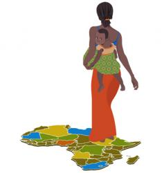African woman vector image vector image