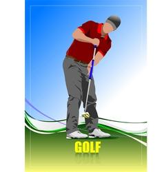 al 0612 golfer 03 vector image vector image