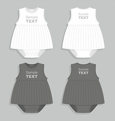 Baby clothes vector image