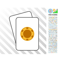 Casino chip cards with bonus vector