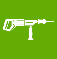 electric drill perforator icon green vector image