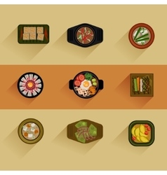 Food korean food icon vector