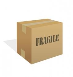 Fragile box vector