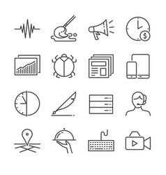 freelance jobs line icon set 2 vector image