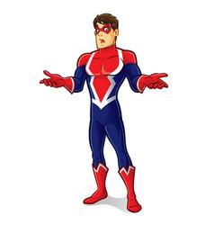 friendly superhero regret vector image vector image