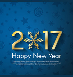 Golden new year 2017 concept on blue vintage vector