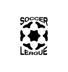 Isolated ball logo Sport logotype Soccer vector image vector image