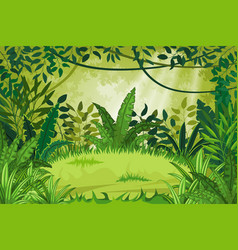 jungle landscape vector image vector image