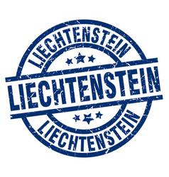 Liechtenstein blue round grunge stamp vector