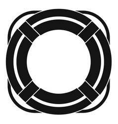 lifebuoy icon simple vector image