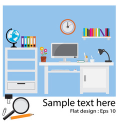 Office flat design vector